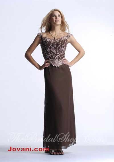 Long brown mother of the groom dresses