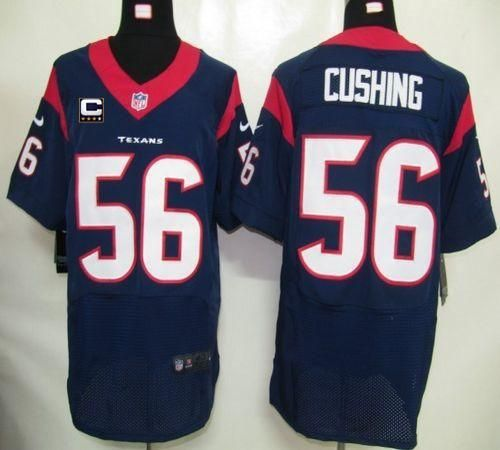 Nike Texans  56 Brian Cushing Navy Blue Team Color With C Patch Men s  Stitched NFL Elite Jersey ff15631c2