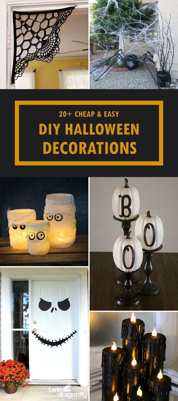 20+ günstige und einfache DIY Halloween Dekorationen,  #Dekorationen #DIY #Einfache #Günstige... #diyhalloweendecorations
