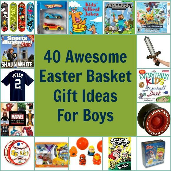 Easter basket gift ideas for boys holidays pinterest basket 40 awesome easter basket gift ideas for boys negle Choice Image