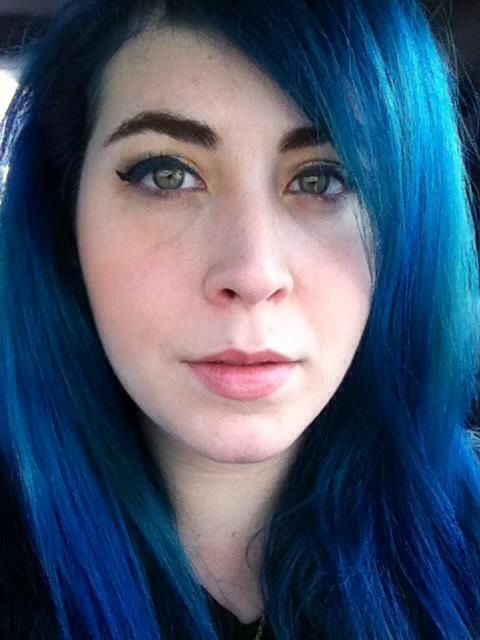 I Dyed My Hair With Manic Panic After Midnight Blue On Top Of My