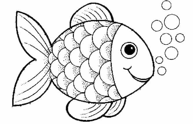 Fish Coloring Pages For Preschool Preschool And Kindergarten Fish Cartoon Drawing Fish Coloring Page Rainbow Fish Coloring Page