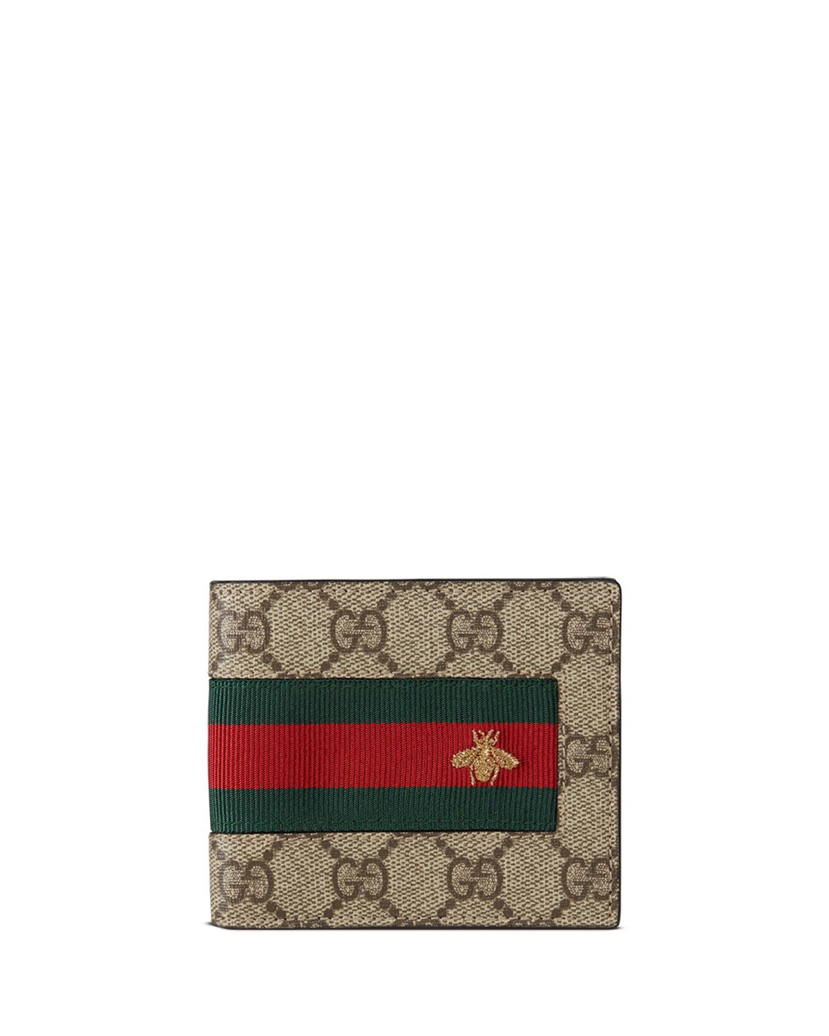 5bf4f8ee174656 Web GG Supreme Bi-Fold Wallet with Bee, Beige - Gucci | *Handbags ...