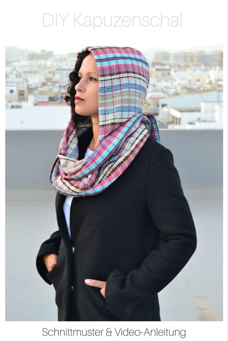 Kapuzenschal nähen mit Schnittmuster   Sewing clothes