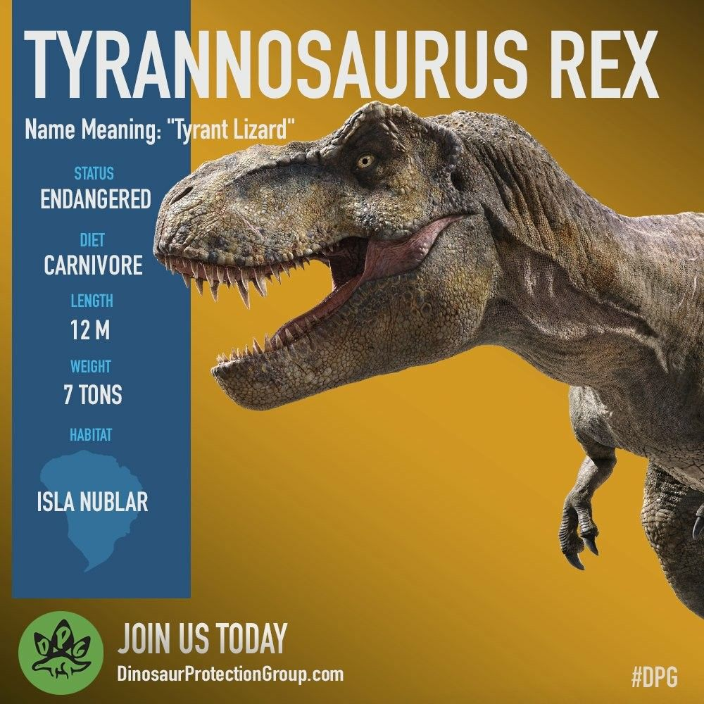 All Endangered Species Are Equal Help Save Our T Rex Jurassic World