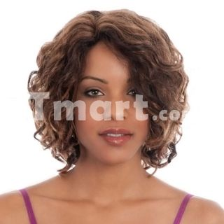 """11.83"""" Short Curly High Quality Synthetic Hair Wig Brown,$18.89"""