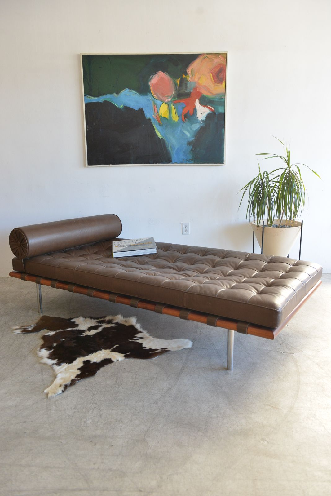 sofa van the products seater voga couch designer barcelona style video rohe mies about der replica