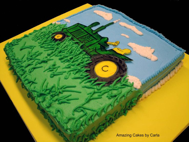 Farm and Tractor Birthday Cakes Tractor Cake Cake Decorating