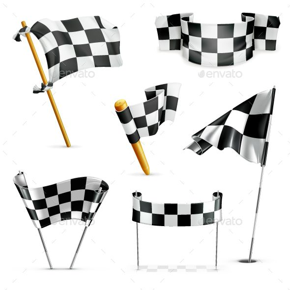 Checkered Flags Flag Drawing Flag Vector Checkered