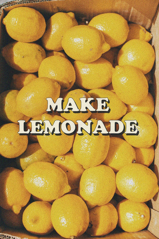 Make Lemonade Art Print