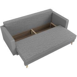 Photo of Stylefy Talvera single sofa dark gray white synthetic leather