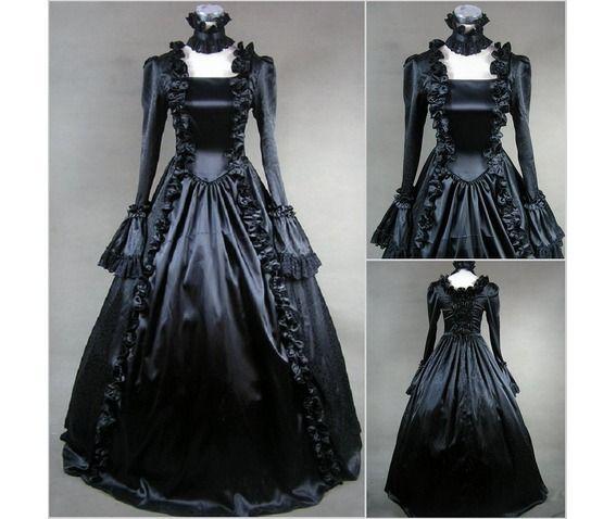 Renesmees Vintage Prom Gothic Retro Wedding Bridal Lolita Dress 31923