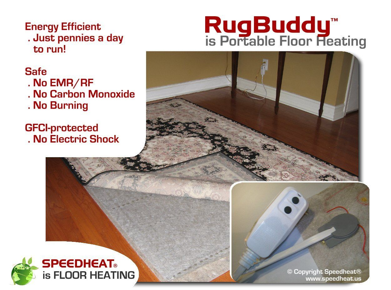 Amazon speedheat rugbuddy under rug space heater u x