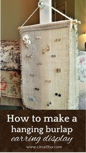 Photo of How to make a hanging burlap earring In this post I show …