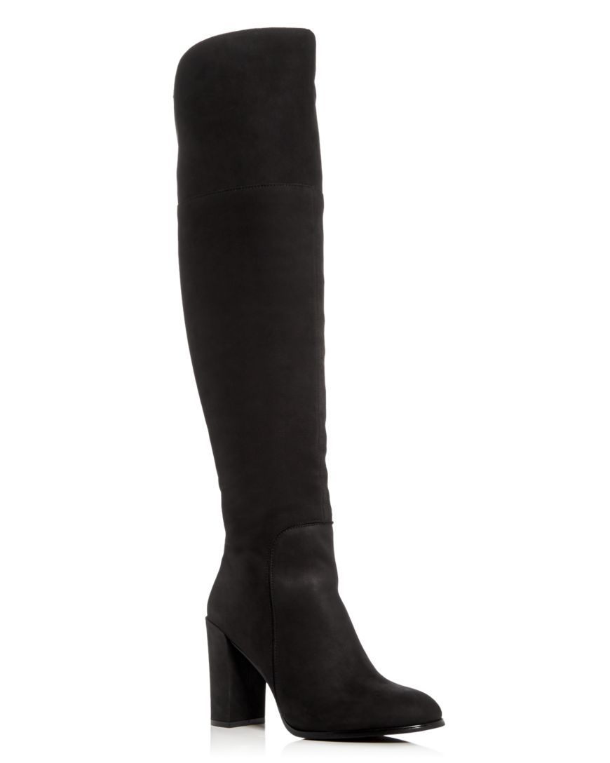 c0fa7d884f2 Kenneth Cole Women s Jack Nubuck Leather Over-the-Knee Boots