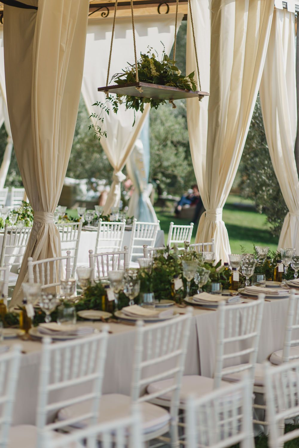Elegant outdoor greenery italian wedding with luisa beccaria gown
