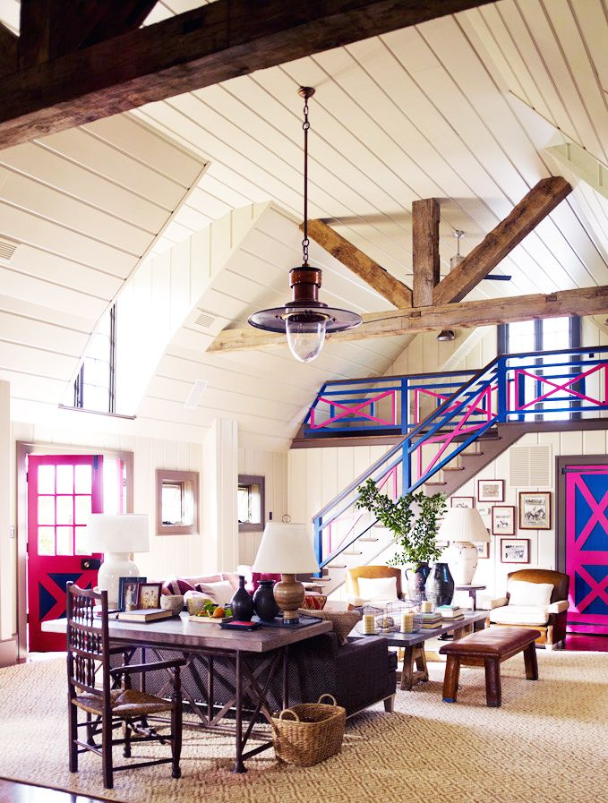 Barn converted into a home Living in
