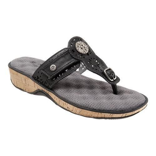 af570390677026 Women s SoftWalk Beaumont Laser Thong Sandal Veg Calf Leather (US Women s 6  N (Narrow))