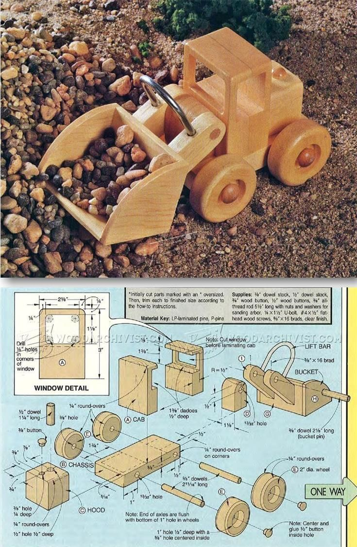 wooden front end loader plans - wooden toy plans and