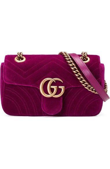 0ebb65b9dbe GUCCI Small Gg Marmont 2.0 Matelassé Velvet Shoulder Bag.  gucci  bags  shoulder  bags  hand bags  silk  velvet  lining
