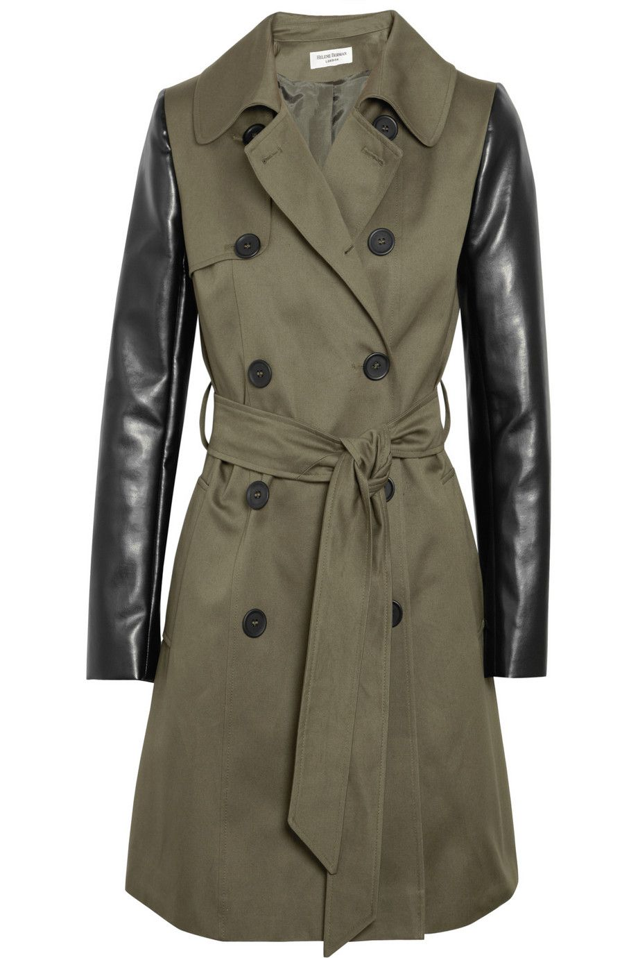 Trench coat with leather sleeves | COATS, JACKETS, SWEATERS ETC ...