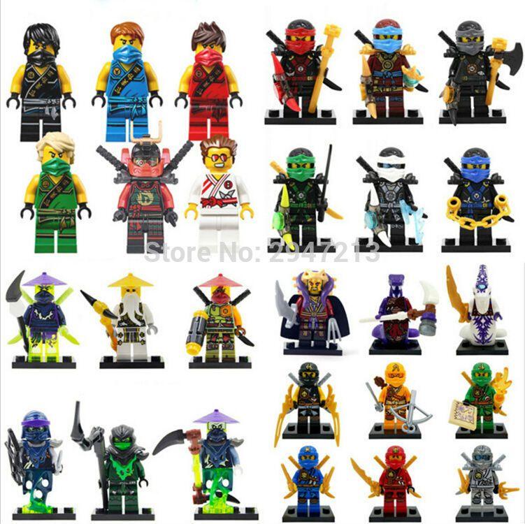 8Pcs Ninjago Motorcycle Set Minifigures Ninja Spielzeug Figur Figuren Geschenk LEGO Minifiguren