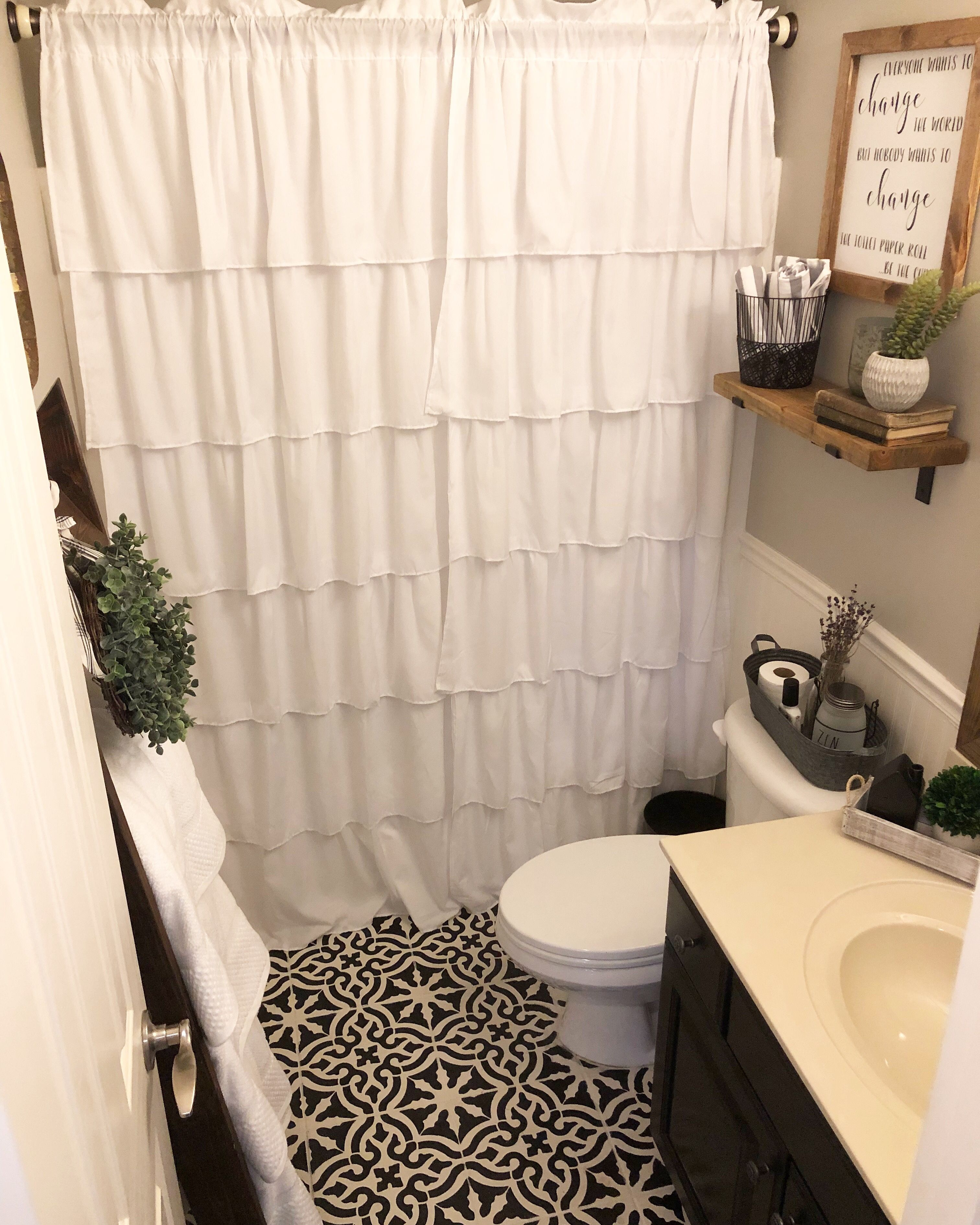 Budget Bathroom Makeover Reveal! The $100 Room Challenge is complete ...