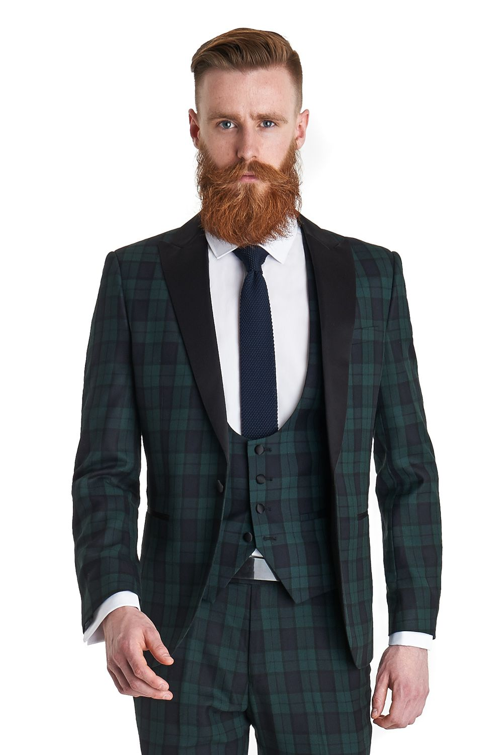 Ventuno 21 slim fit green tartan dress suit is single breasted ...