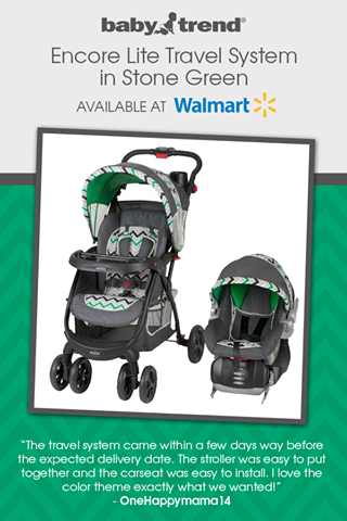Baby Trend Encore Lite Travel System in Stone Green