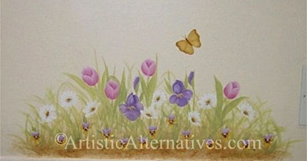 Image result for hand painted wall murals nursery