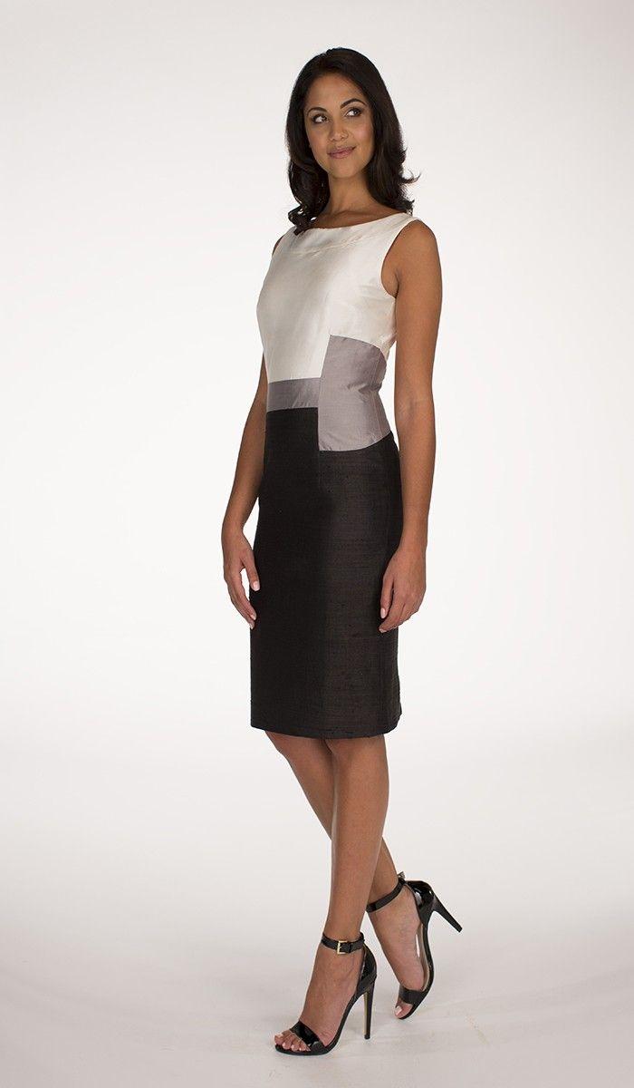 We love monochrome! Ivory and Black Hanieh dress by Hanieh Fashion