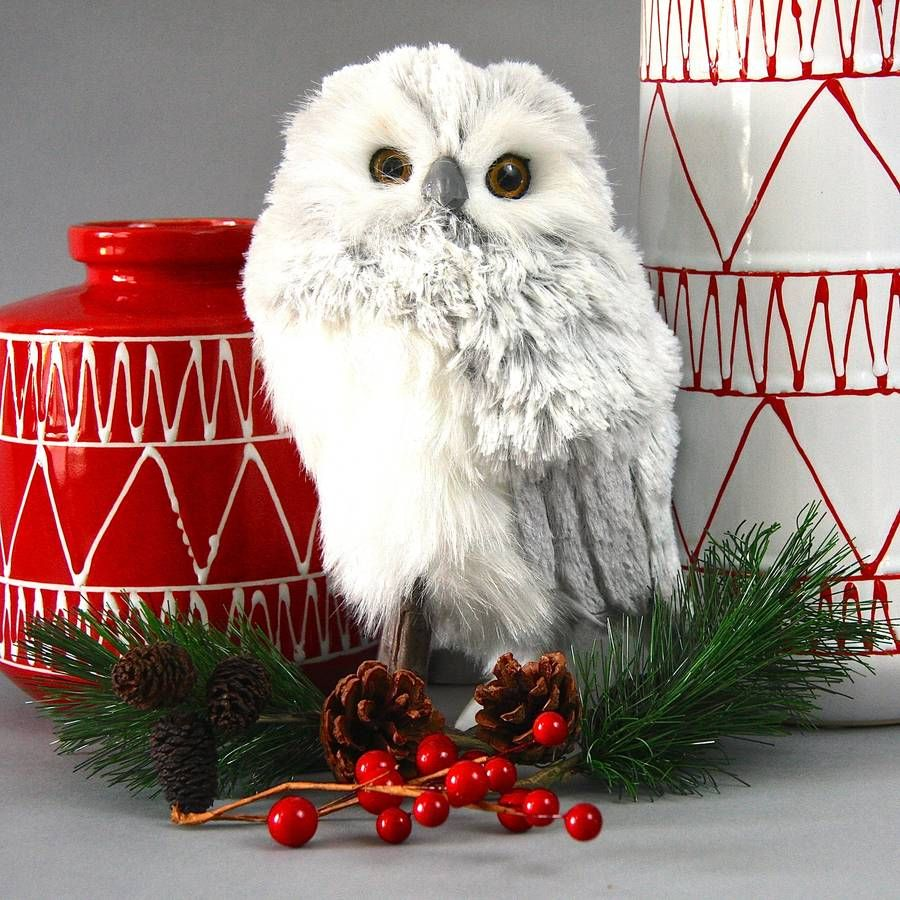 Snowy Owl Christmas Decoration  Snowy owl Owl decorations and Owl
