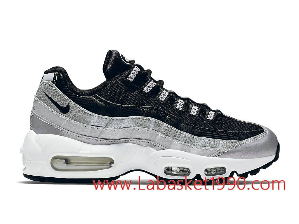 the best attitude 93983 6eb2a Nike Air Max 95 814914 001 Chaussures Nike Prix Pas Cher Pour Homme Noir  Blanc