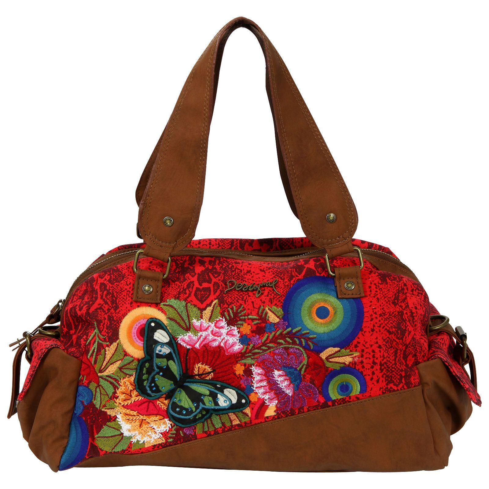fe2a3342b5 Sac à main simili cuir et canvas imprimé   DESIGUAL BAGS & SHOES ...