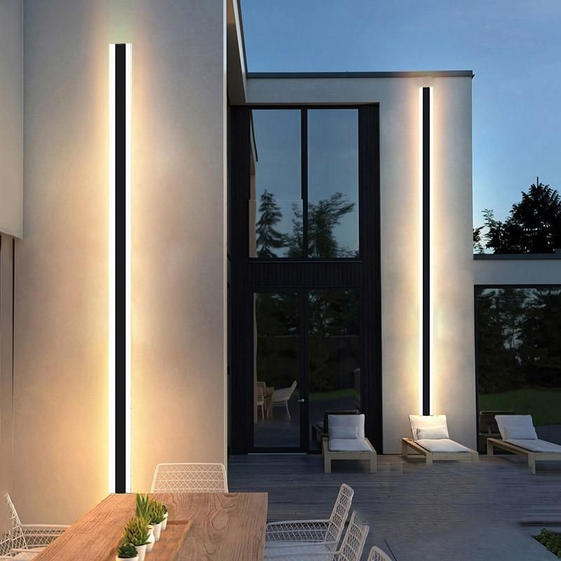 Avenila Modern Waterproof Outdoor Long Strip Led Aluminum Wall Lamp Outdoor Wall Lamps Outdoor Wall Lighting Facade Lighting