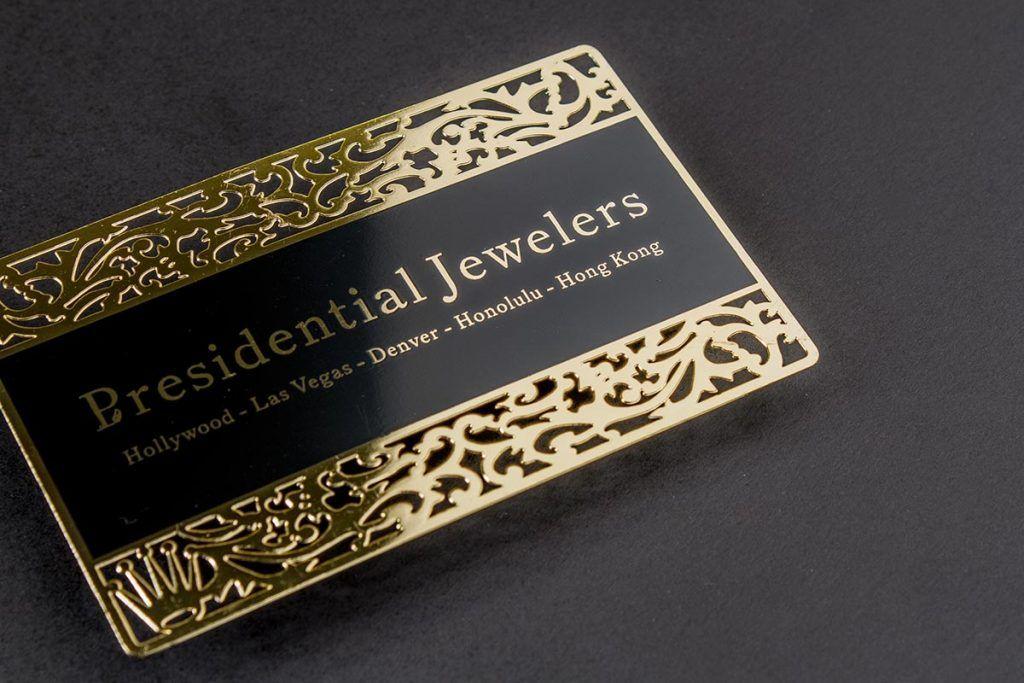 Gold Business Card Dubai Luxury