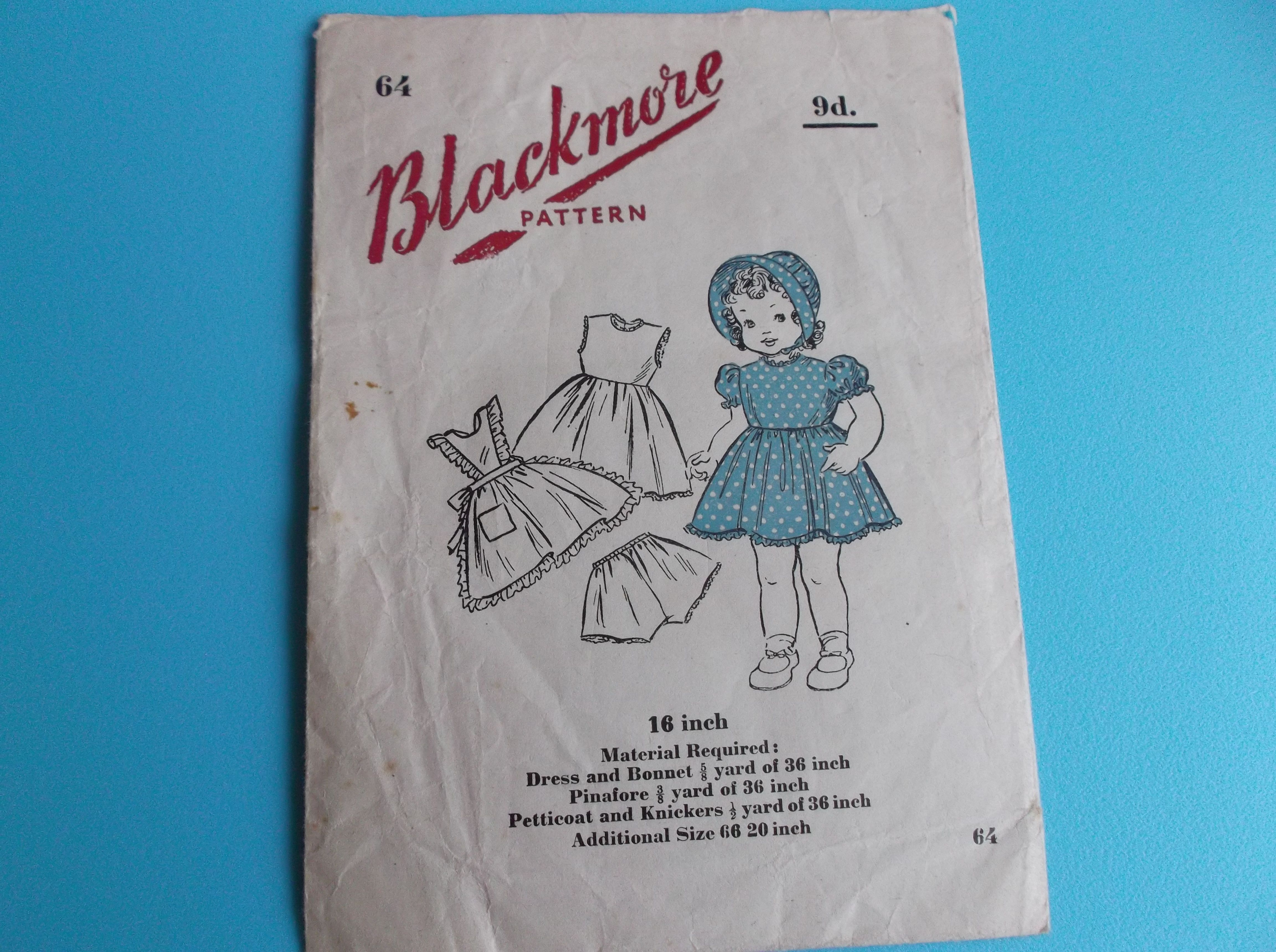 Great sewing pattern for a dolls outfit from blackmore patterns great sewing pattern for a dolls outfit from blackmore patterns from the 30s or 40s jeuxipadfo Images
