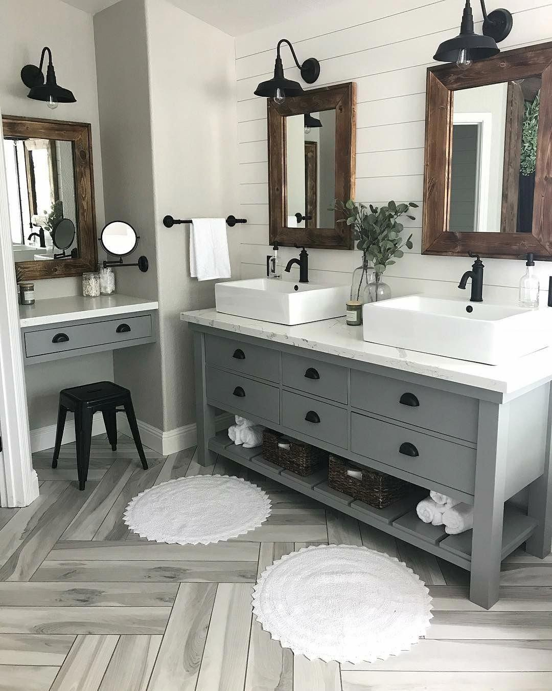 Modern Farmhouse Master Bath Renovation Obsessed with