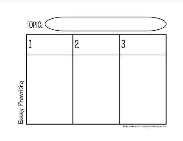 Prewriting the essay graphic organizer 2 this free for Free graphic organizer templates