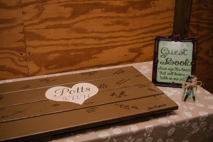 Wedding Guest Book In Lieu Wooden Sign Will Be Out Patio Coffee