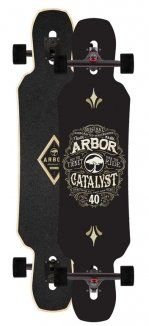 Arbor Catalyst Complete Skateboard 40 Inch black