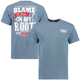Ole Miss Rebels Navy Blame It All On My Roots Comfort Colors T Shirt Ole Miss T Shirt Ole Miss Rebels