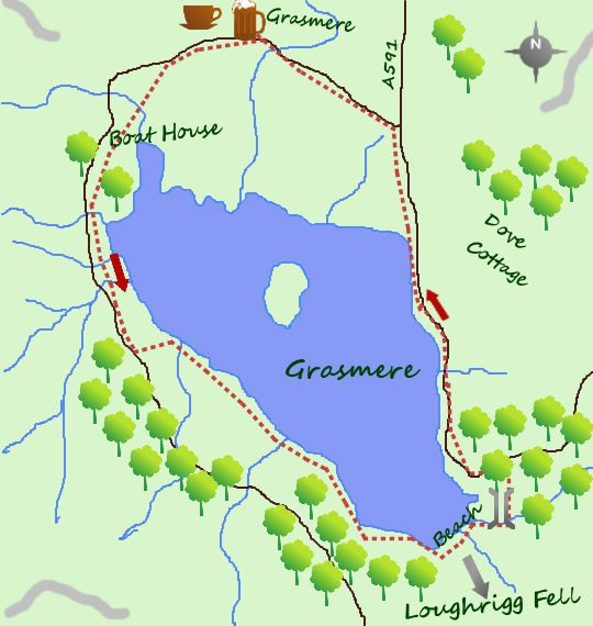 Grasmere map  Walks  Pinterest  Lake district Yorkshire and Hiking