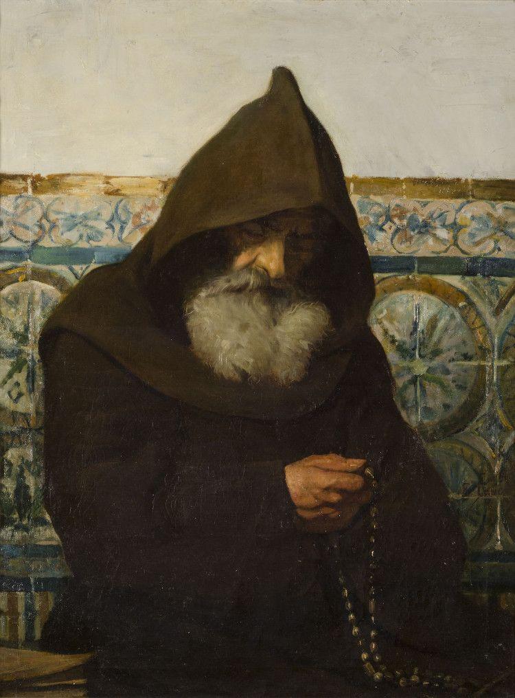 Monje orando. Cano de la Peña, Eduardo | Arte católica, Pinturas ...