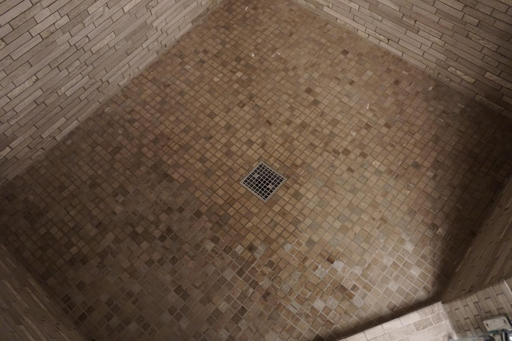 This KOHLER K 9136 CP Square Design Tile In Shower Drain Fits The