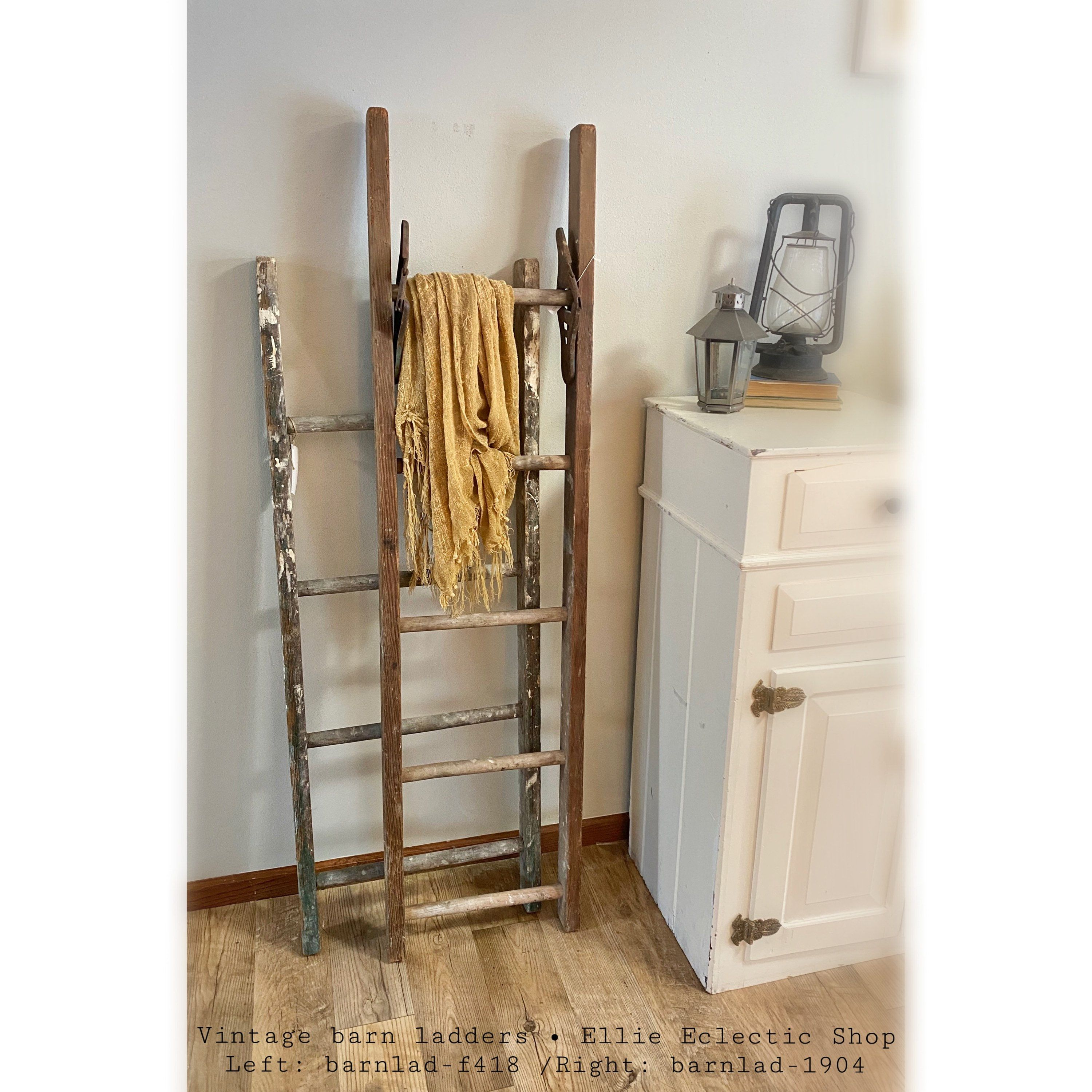 Rustic Blanket Ladder 5ft Vintage Wooden Barn Ladder Farmhouse Antique Distressed Towel Rack Decorative Country Decor Furniture In 2020 Rustic Blanket Ladder Wooden Barn Blanket Ladder