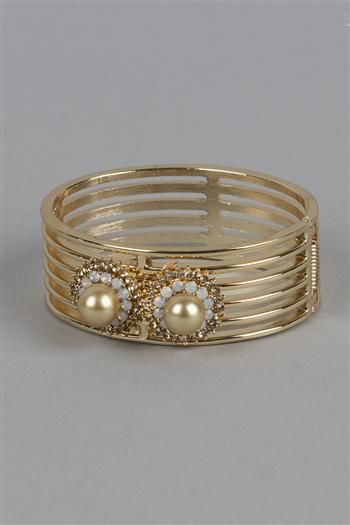 Tan Pearl Perfection + Doubled Bracelet