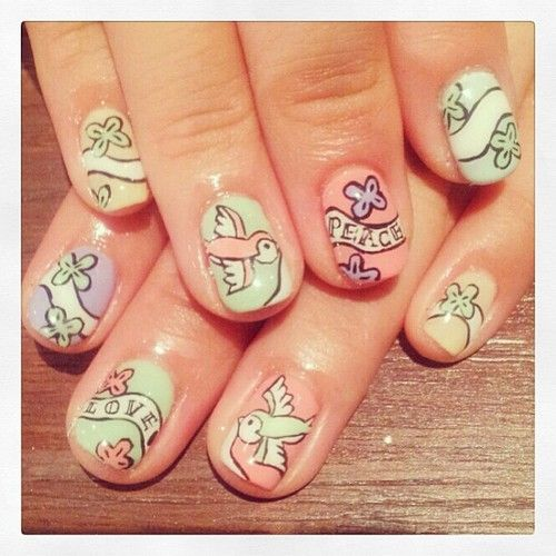Pin By Milena Acosta On Uas Nails Pinterest Swallows Nail