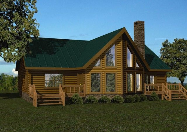 Battle Creek Log Homes Delivers A Range Of Floor Plans Kits For Single Story Log Homes To Customers Nationwi Cabin Style Homes Log Homes Log Home Floor Plans
