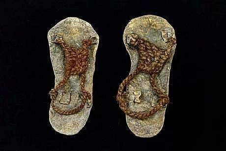 Calzado inca. Ushutas (sandalias) Suela de fibra vegetal o de cuero.  #tejidos